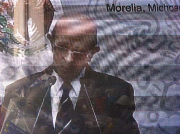 Fausto en discurso sobre el acuerdo de seguridad. Crestomatia SMRyTV 2014